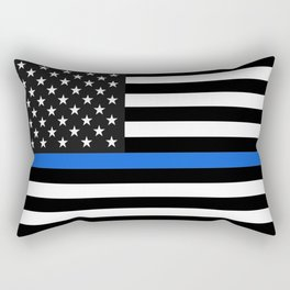 Thin Blue Line American Flag Rectangular Pillow