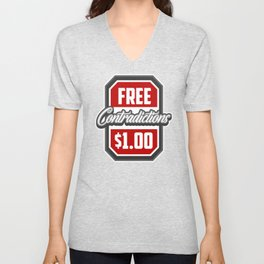 Free Contradictions $1 Unisex V-Neck