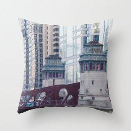 Chicago River Walk Throw Pillow