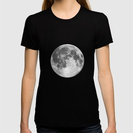 Full Moon print black-white photograph new lunar eclipse poster bedroom home wall decor T-shirt