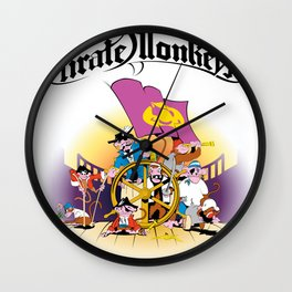 Pirate Monkeys Wall Clock