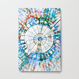 Glass stain mosaic 5 - circle Metal Print