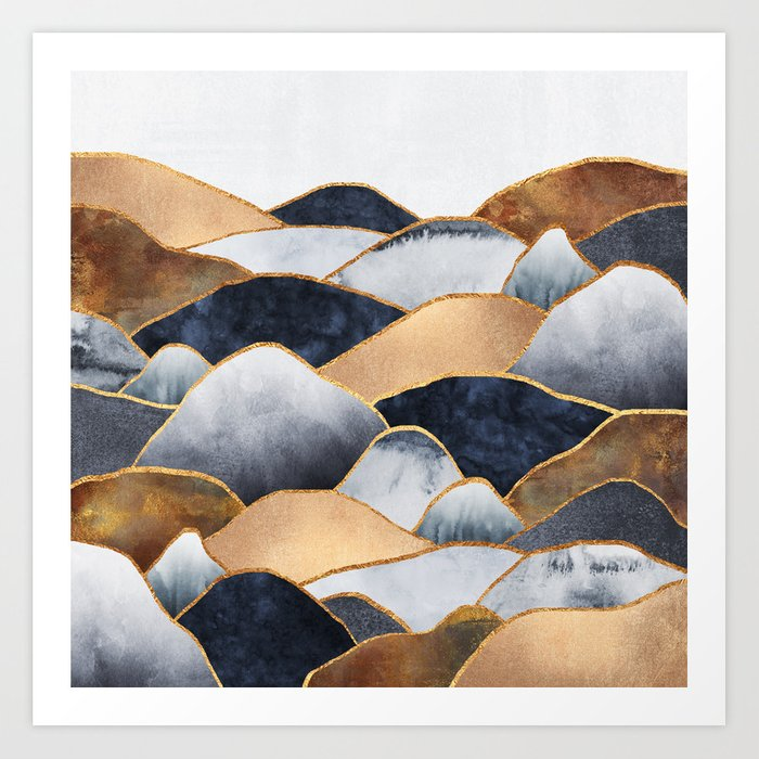 Hills 2 Art Print