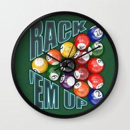 Rack Em Up Wall Clock