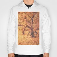 new york city Hoodies featuring Autumn - New York City by Vivienne Gucwa
