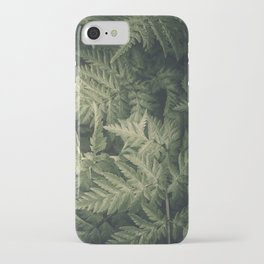 SHADED GREEN FERN iPhone Case