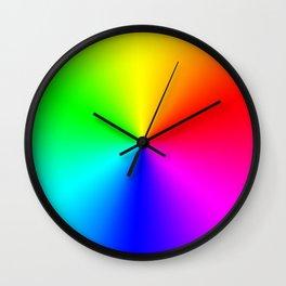 Rainbow Color Wheel Wall Clock