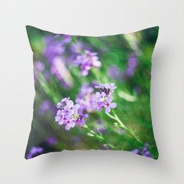 Closeup of beautiful pink flowers Throw Pillow