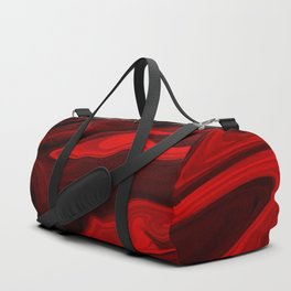 Blood Red Marble Duffle Bag