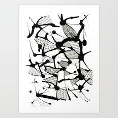 Ink Doodles Art Print