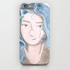 Blue haired Girl iPhone 6s Slim Case