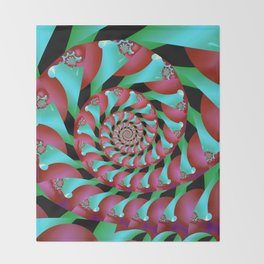 Archimedes' Magenta & Teal Tangent Throw Blanket