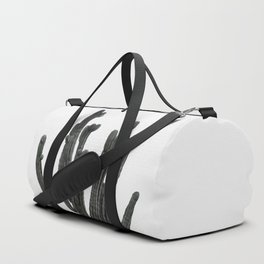 Black and White Cactus Duffle Bag