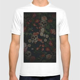 Skull and Rose Pattern- Digital Collage T-shirt