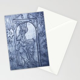 Hildegard receiving visions Stationery Cards