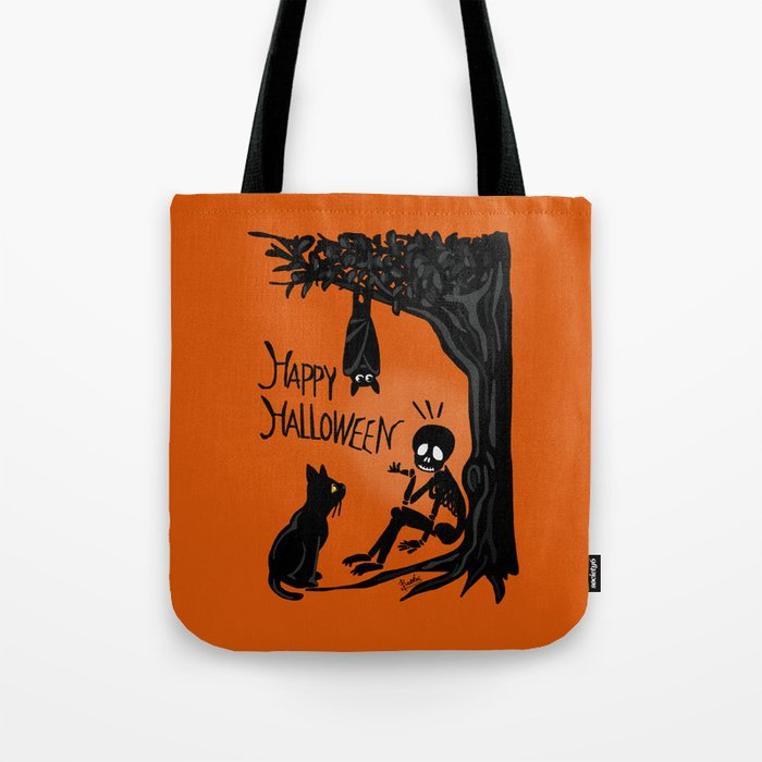 Halloween with the skull Tote Bag