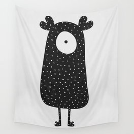 Polka Dotted Monster Wall Tapestry