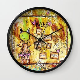 You always make my heart hoppy  Wall Clock
