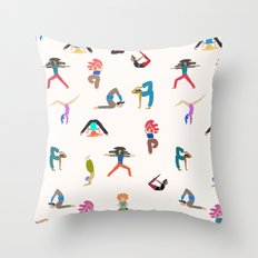 yoga lovers Throw Pillow