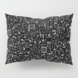 All Tech Line INVERTED / Highly detailed computer circuit board pattern Pillow Sham
