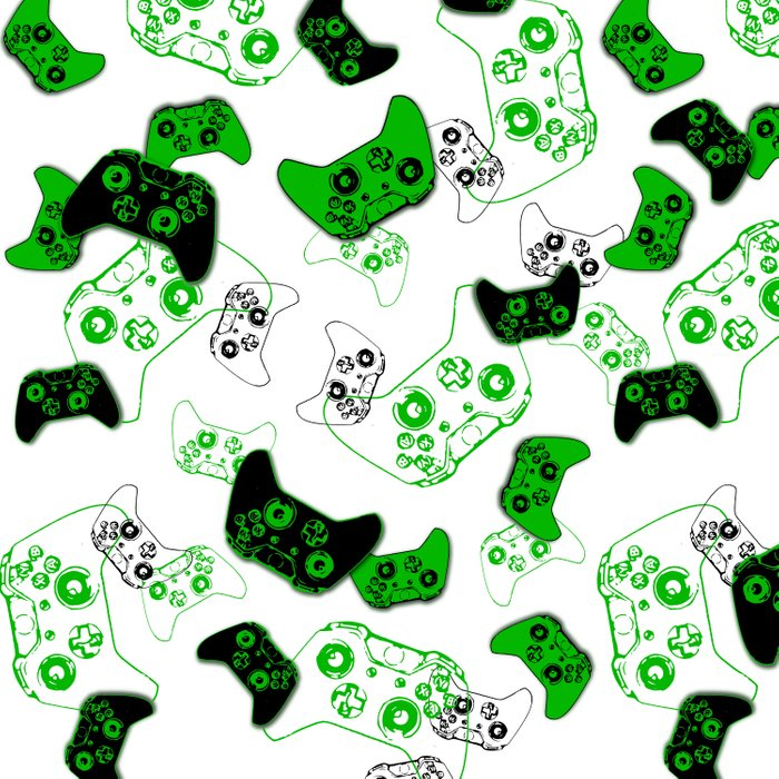 Video Game White and Green Comforters