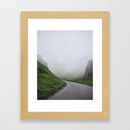 Winnats Pass Fog Framed Art Print