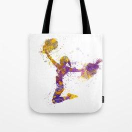 young woman cheerleader 03 Tote Bag