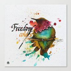 Freedom of colors Canvas Print