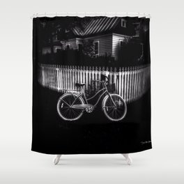 Grandmothers House - Black And White Shower Curtain