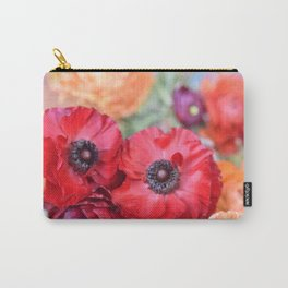 Rosey Ranunculus Carry-All Pouch