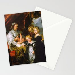 Peter Paul Rubens - Deborah Kip, Wife of Sir Balthasar Gerbier, and Her Children Stationery Cards