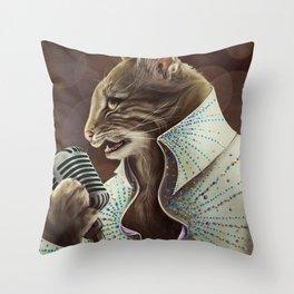 Elvis Petme Throw Pillow