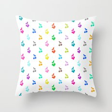 Rainbow cherries Throw Pillow