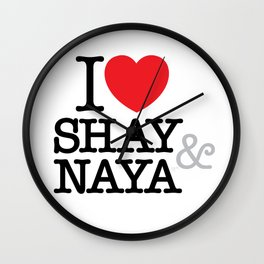 I Heart Shay & Naya Wall Clock