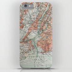 Vintage Map New York Slim Case iPhone 6s Plus