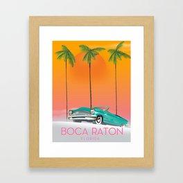 Boca Raton Florida travel poster Framed Art Print