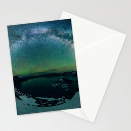 Galactic Rainbow over Crater Lake Stationery Cards