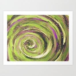 Spiral nature Art Print