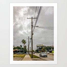 Driving on Howard Art Print