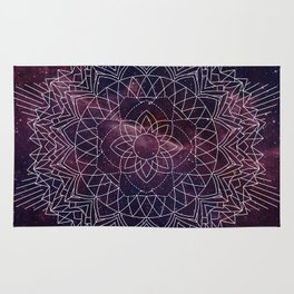 Geometric Space Mandala Rug