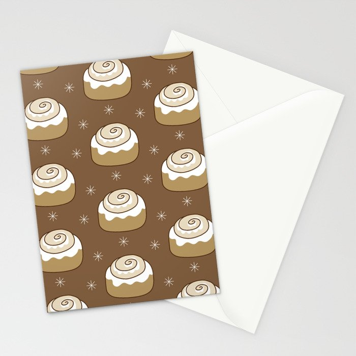 Cinnamon Bun Stationery Cards