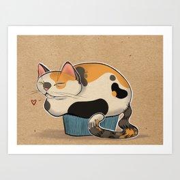 Cat Muffin Art Print