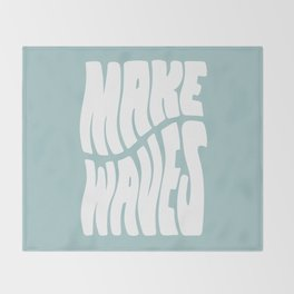Make Waves Throw Blanket