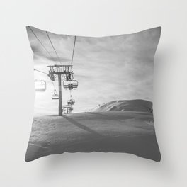 Alps ski lifts Throw Pillow