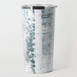 Gray blue smoke wash drawing painting Travel Mug