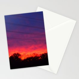 Ombre Sunset Stationery Cards