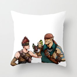 Blank and Marcus Throw Pillow