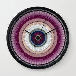 Decorative Wine Dark Blue Mandala Wall Clock