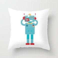 Robot loves Diana Throw Pillow