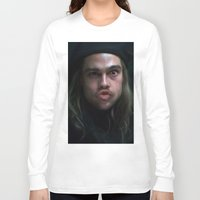 brad pitt Long Sleeve T-shirts featuring Brad Pitt - 12 Monkeys - Monkey Wrench by Saint Genesis